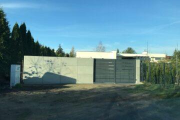 Płyty betonowe ogrodzenie
